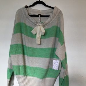 NWT Free People  Pullover Off Shoulder Sweater SZM